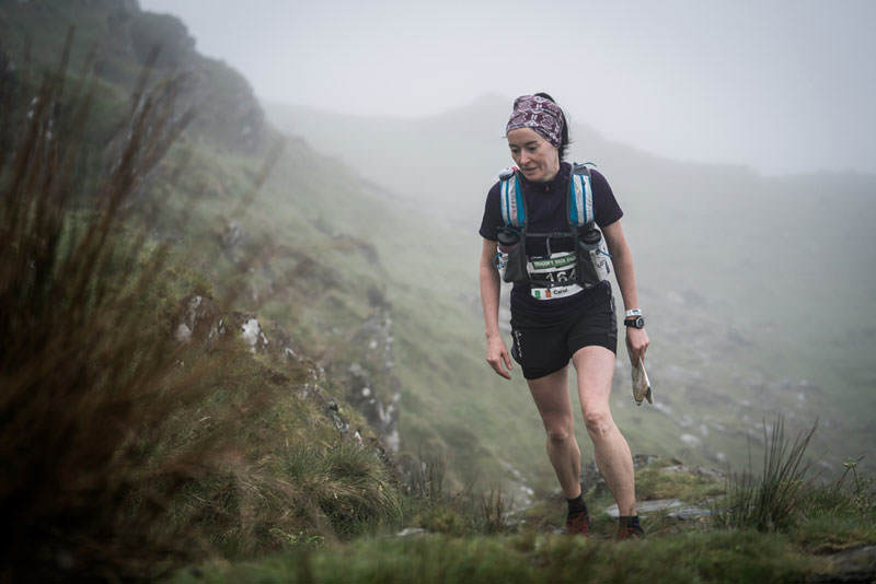 1 Carol Morgan on day two of the Berghaus Dragons Back Race photo Ciancorless