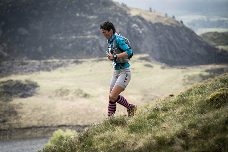 2 Sabrina Verjee in action on day two of the Berghaus Dragons Back Race photo Ciancorless