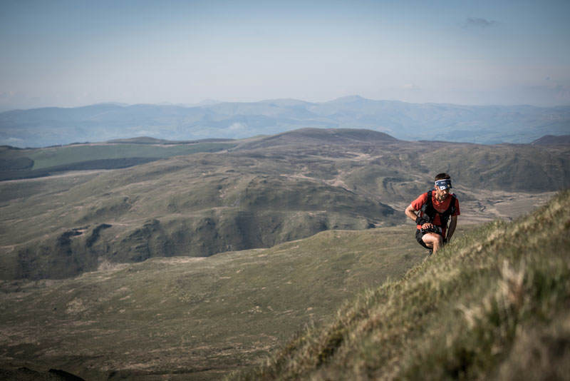 3 Jez Bragg climbs on day three of the Berghaus Dragons Back Race photo Ciancorless