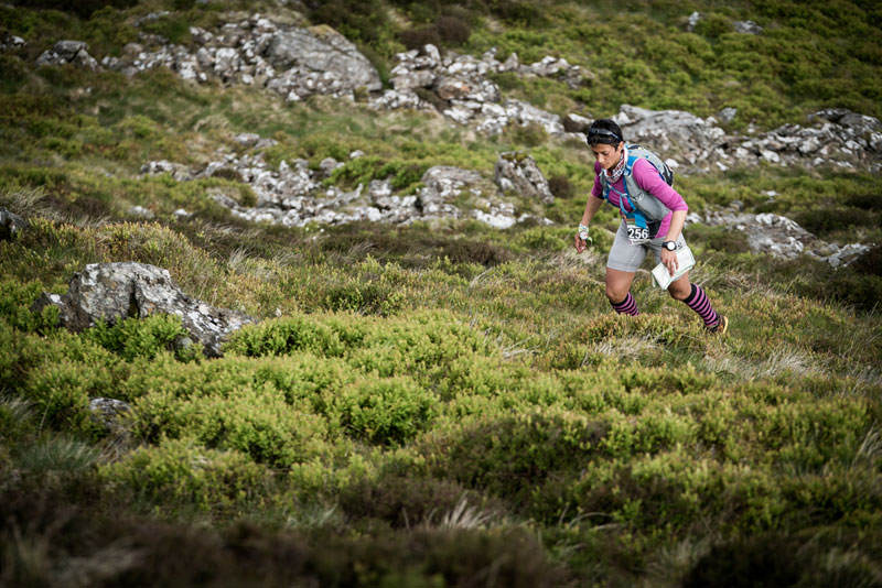 4 Sabrina Verjee in action on day three of the Berghaus Dragons Back Race photo Ciancorless