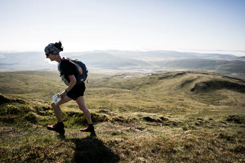 5 Carol Morgan on day three of the Berghaus Dragons Back Race photo Ciancorless