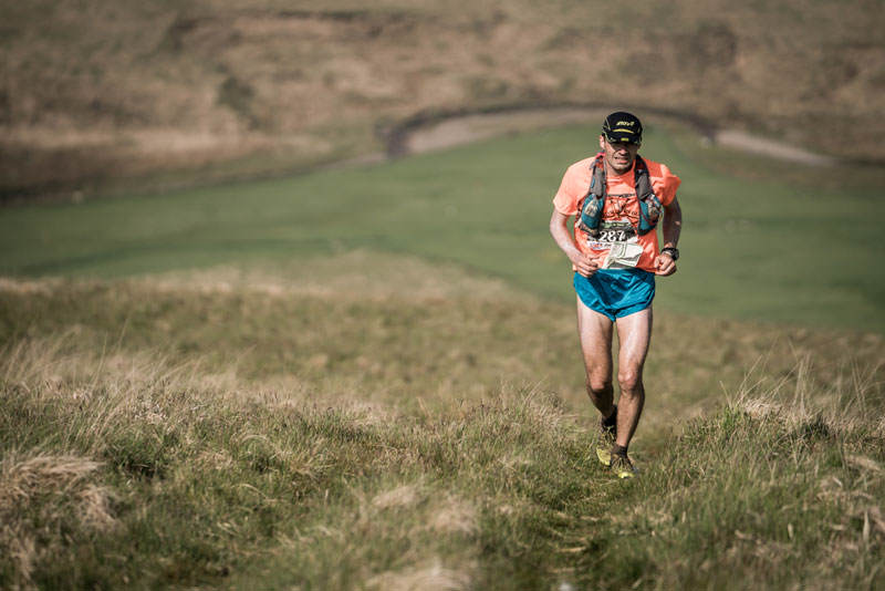 5 Jim Mann pushes the pace on day four of the Berghaus Dragons Back Race photo Ciancorless