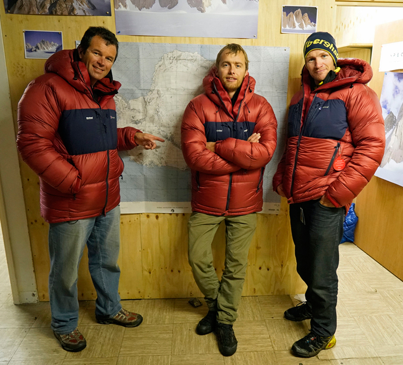 8 The team l r Marc Sedon Leo Houlding Jean Burgun photo credit Berghaus