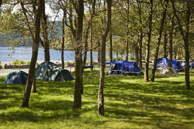Camping at Sallochy campsite 002