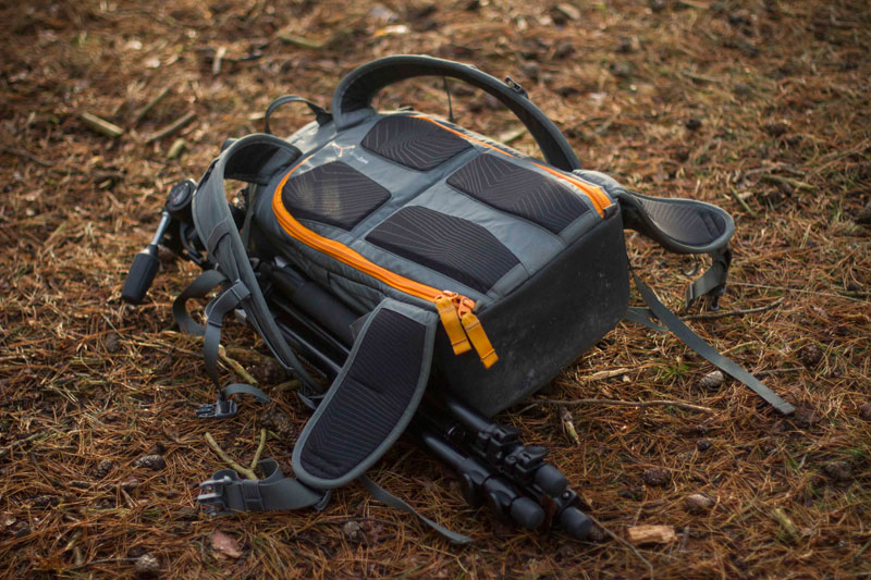 Lowepro Whislter on floor face down