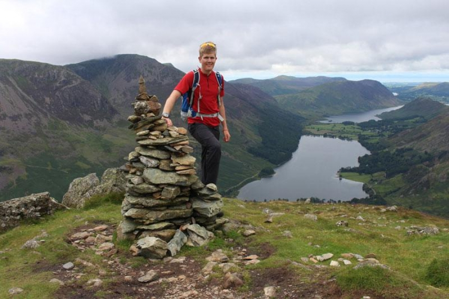 Alex Staniforth sets off on epic journey around UK county tops