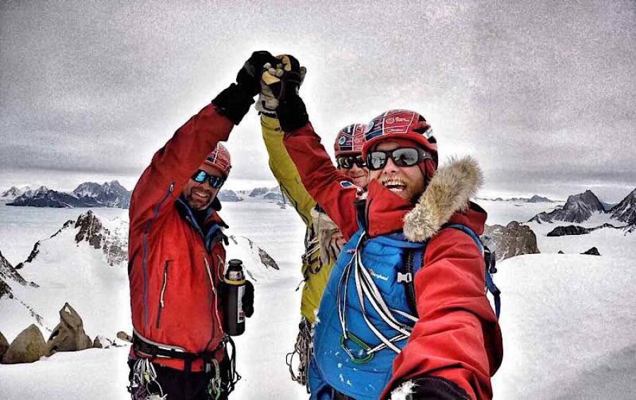 Success for Leo Houlding team on Antarctica's Spectre