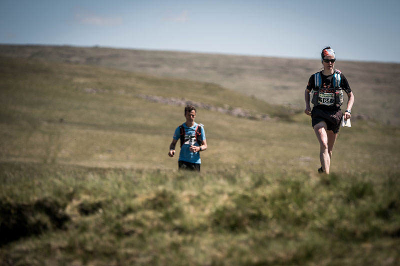 5 Carol Morgan sets the pace on day five of the Berghaus Dragons Back Race photo Ciancorless