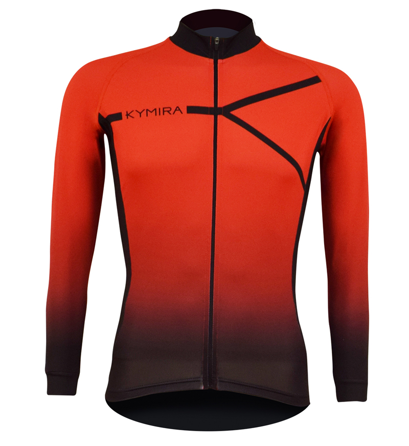 Kymira M Pro Winter Jersey Top Red front 002