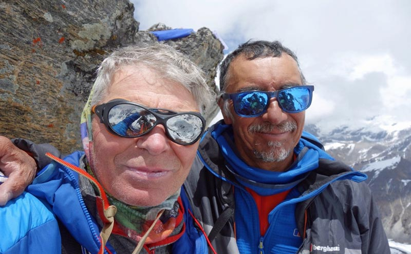 Mick Fowler left and Vic Saunders are preparing for their second Himalayan expedition of 2019 photo credit Berghaus