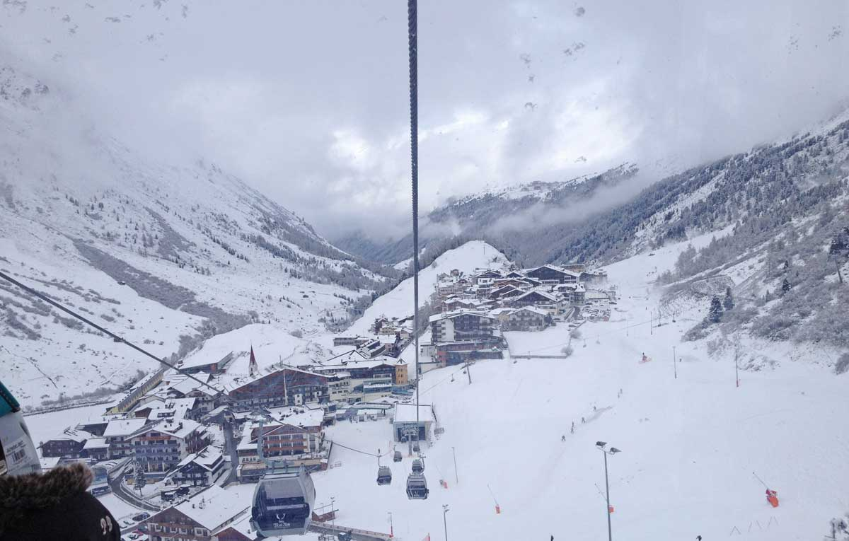 Obergurgl cable car view