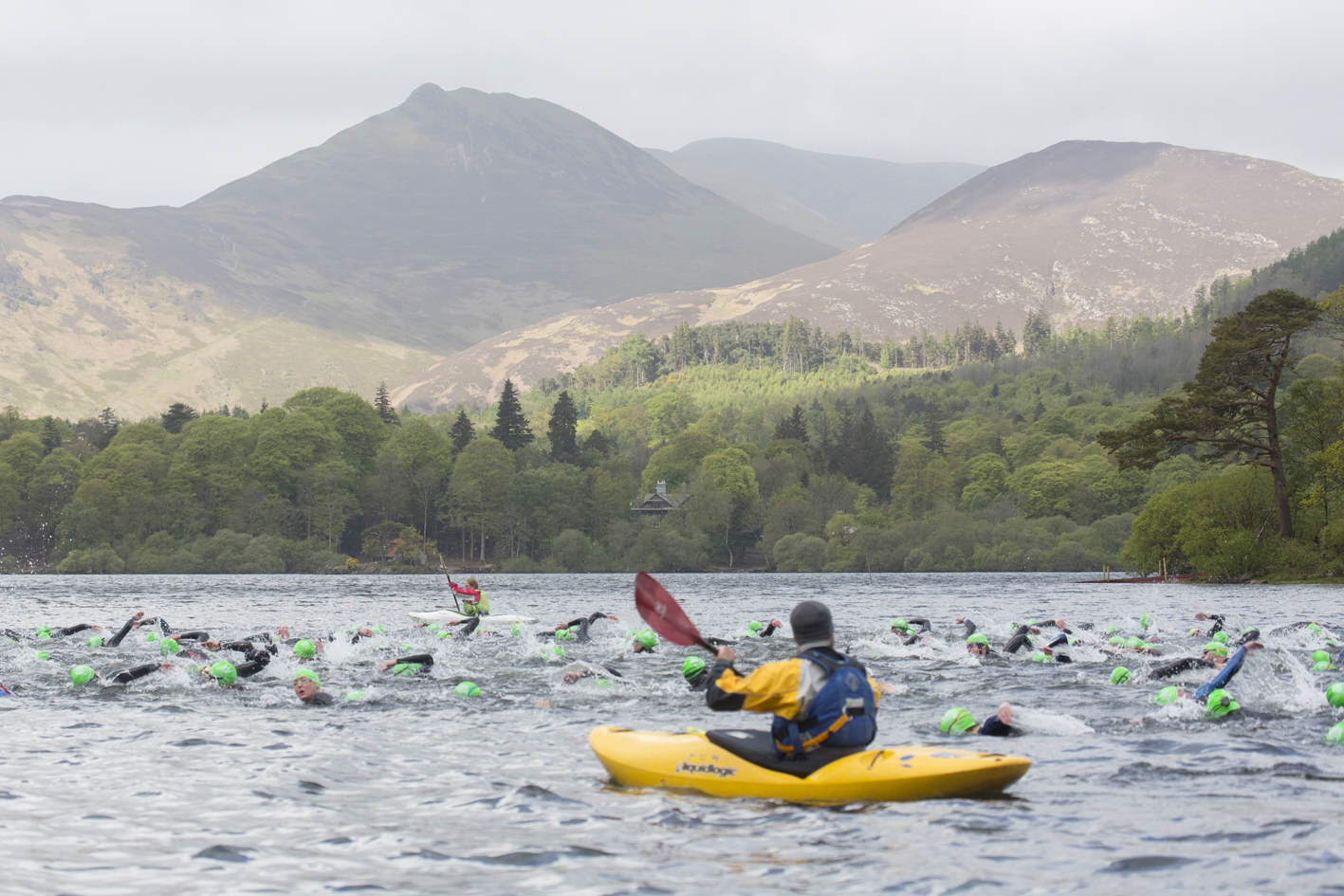 Open water swimmers at Keswick Mountain Festival