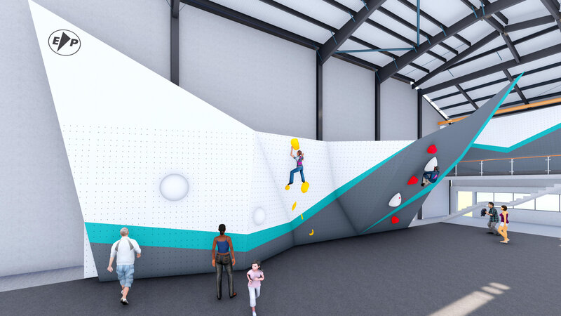 Olympic Bouldering Wall designed and built by EntrePrise 1