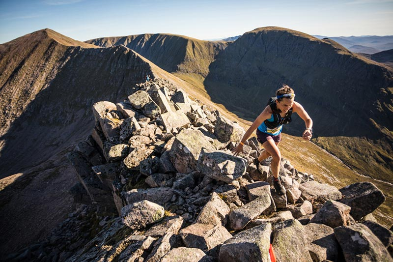 A skyrunner in action during the Salomon Ben Nevis Ultra 2019 copyright No Limits Photography 002