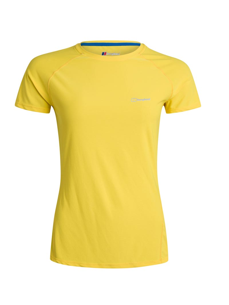 W 24 7 Tech Tee SS Crew yellow 002