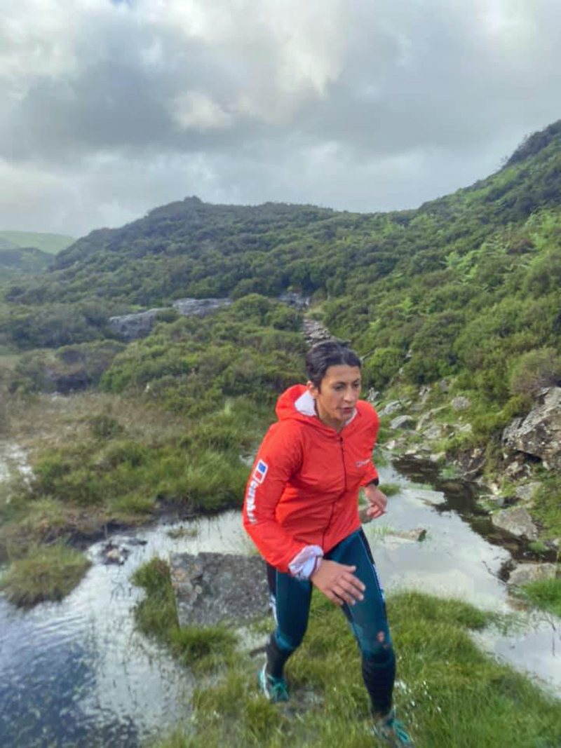 Sabrina Verjee during the early stages of her Wainwrights round