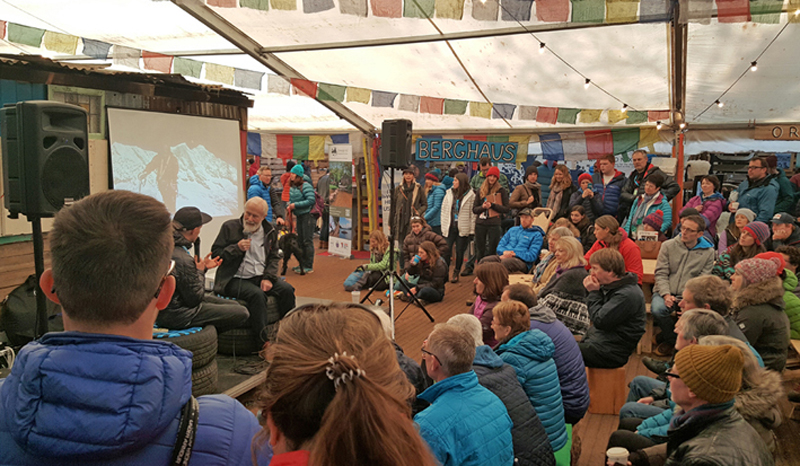 Sir Chris Bonington will return for another Q and A in the Basecamp Village 002