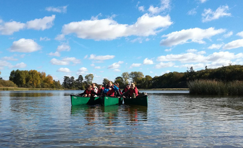 Students enjoy time on the water in canoes purchased with an itsgreatoutthere grant 002