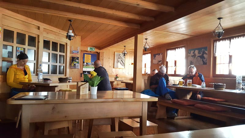 Via Alpina 2019 Blumisalp hut 2