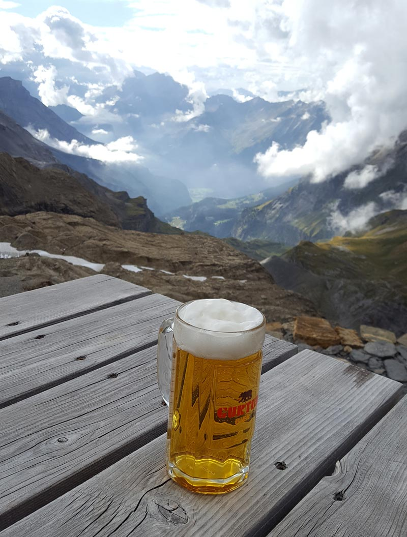 Via Alpina 2019 beer