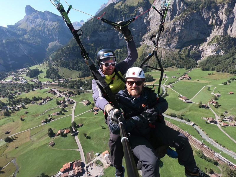 Via Alpina 2019 paragliding