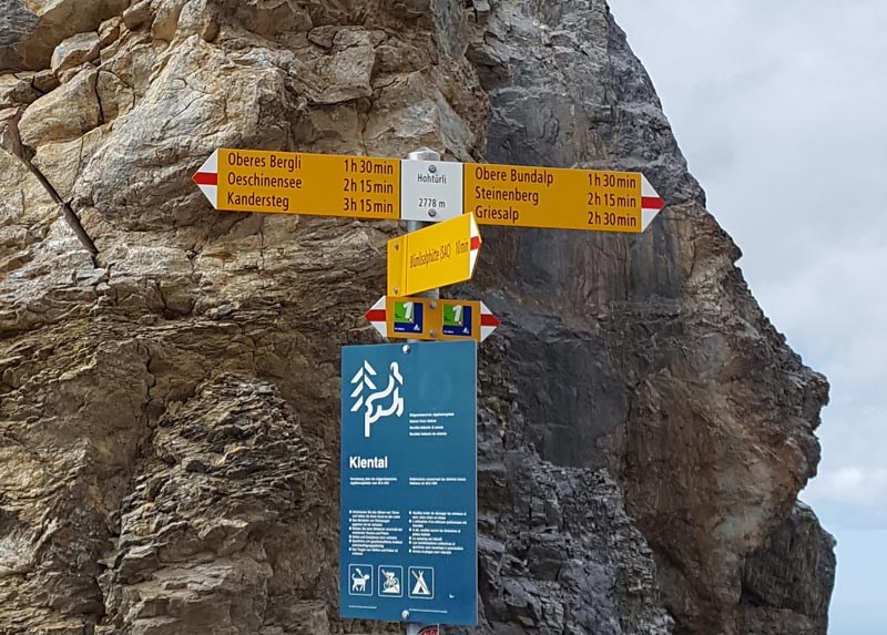Via Alpina 2019 signpost 2