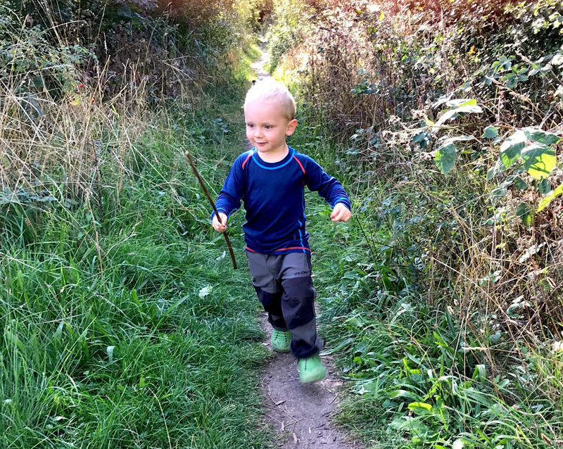 two year old Isbjorn brand ambassador Sonny Reed who is inspiring other children to enjoy outdoor activities 002