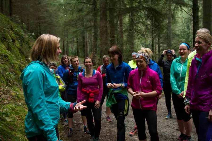 A Day with Anna Frost - trail running Coed y Brenin