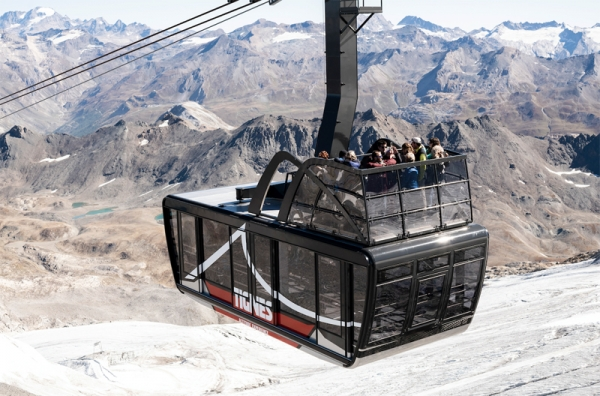 Tignes resort in France has launched its new aerial tramway, the largest and highest tramway in the world.