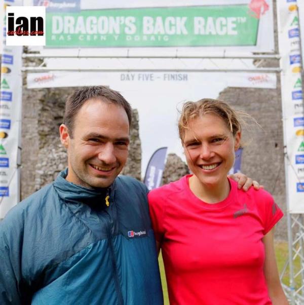 Jim Mann and Jasmin Paris – winners of the 2015 Berghaus Dragon's Back Race