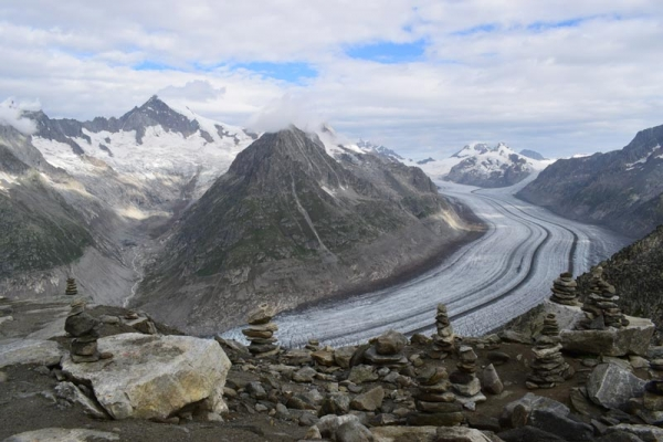 Trekking Europe's longest glacier - Switzerland's Aletsch Glacier