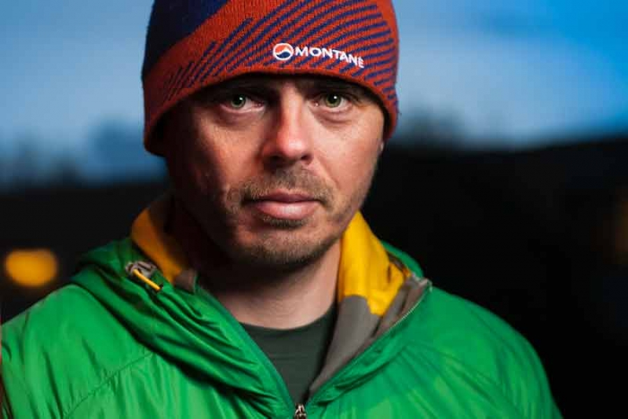 Andy Kirkpatrick at the Buxton Adventure Festival